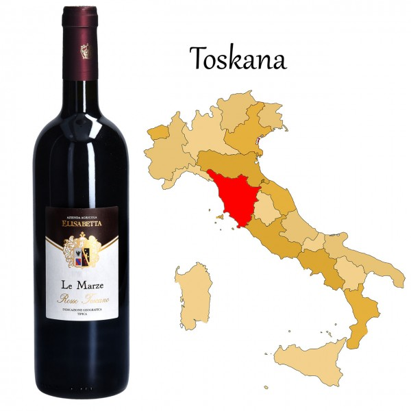 LE MARZE Rosso Toscana IGT, Brunetti