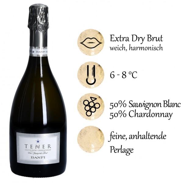 Tener Sauvignon Chardonnay Extra Dry Brut, Castello Banfi