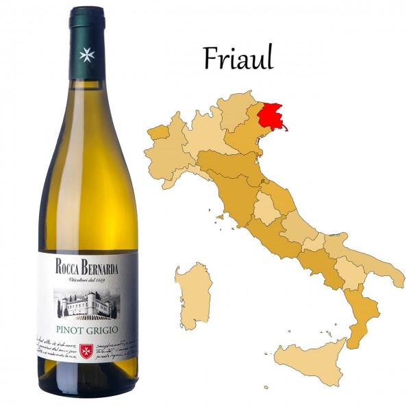 Pinot Grigio Colli Orientali del Friuli DOC, Rocca Bernarda