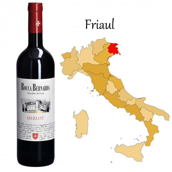 Merlot Colli Orientali del Friuli DOC, Rocca Bernarda